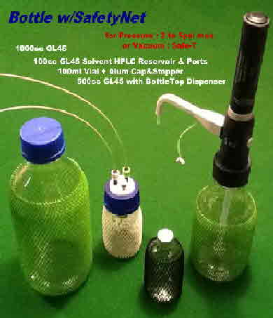 Bottle_SafetyNet, Liquid Dispenser, GL-45 Bottle