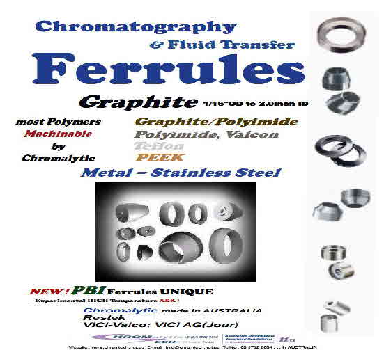 "Ferrules, Graphite Ferrules - ALL Sizes 1/6""  to 2.0""ID"