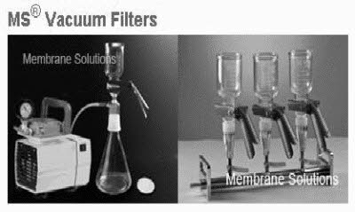 MS-Vacuum Filtration, Filters, Syringe Filters, Membranes